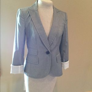 Banana Republic Gray Blazer Size 6